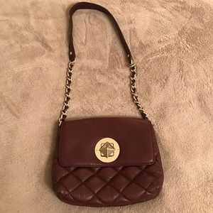 Kate Spade Gold Coast meadow plum quilted bag